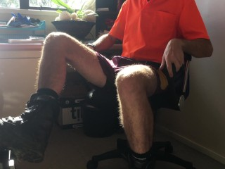 Horny Tradie Unsustained In All Directions Hi-vis In All Directions Chum Around With Annoy Site Office